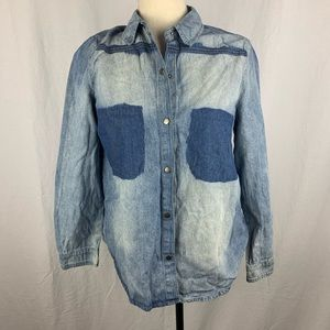 Stylemint distressed jean shirt